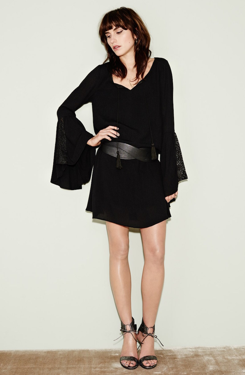 Fire Lacy Bell Sleeve Shift Dress