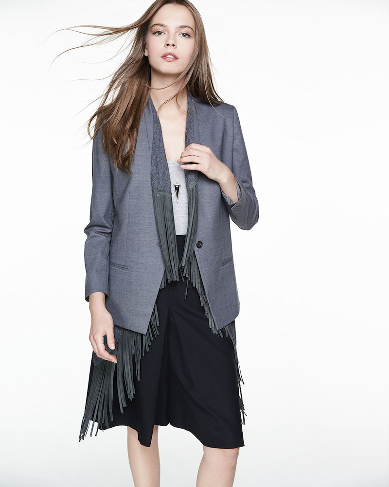 Foundrae Two-Way Jacket with Detachable Fringe Vest