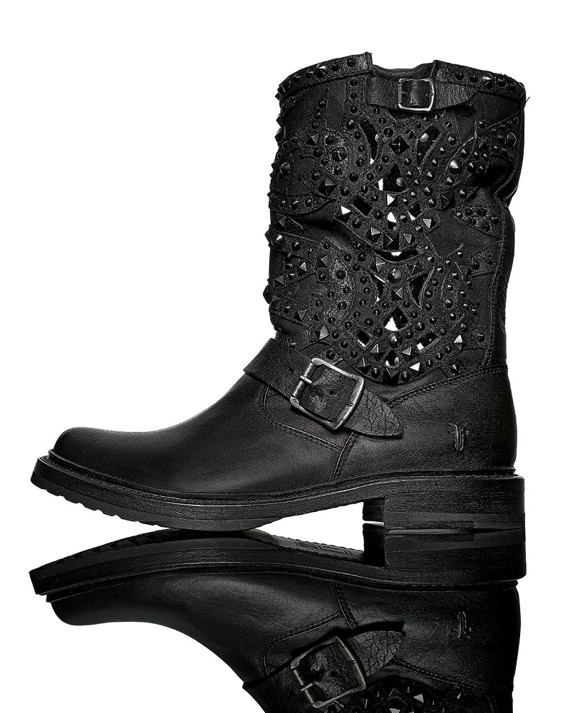 Frye Veronica Studded Laser-Cut Leather Boot