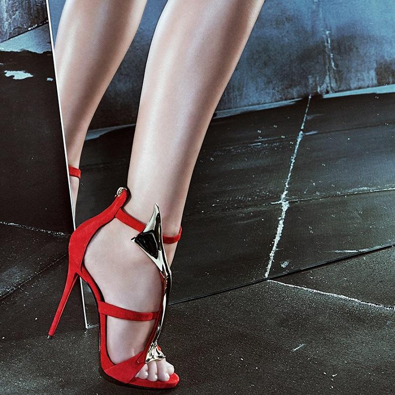 Giuseppe Zanotti Suede & Goldtone Overlay Sandals
