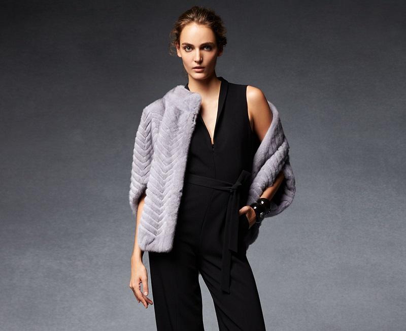 Gorski Chevron-Knit Fur Jacket