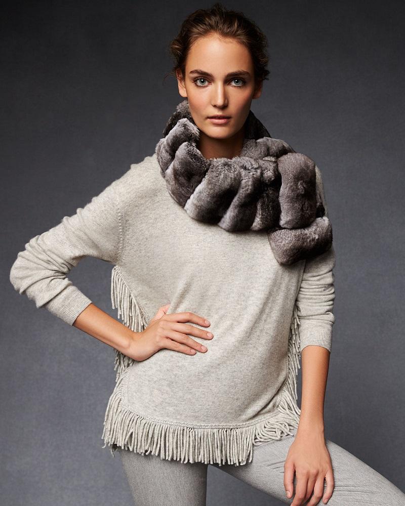 Gorski Chinchilla Fur Collar