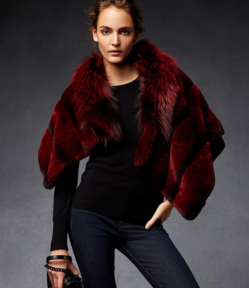 Gorski Rabbit Fur Shawl