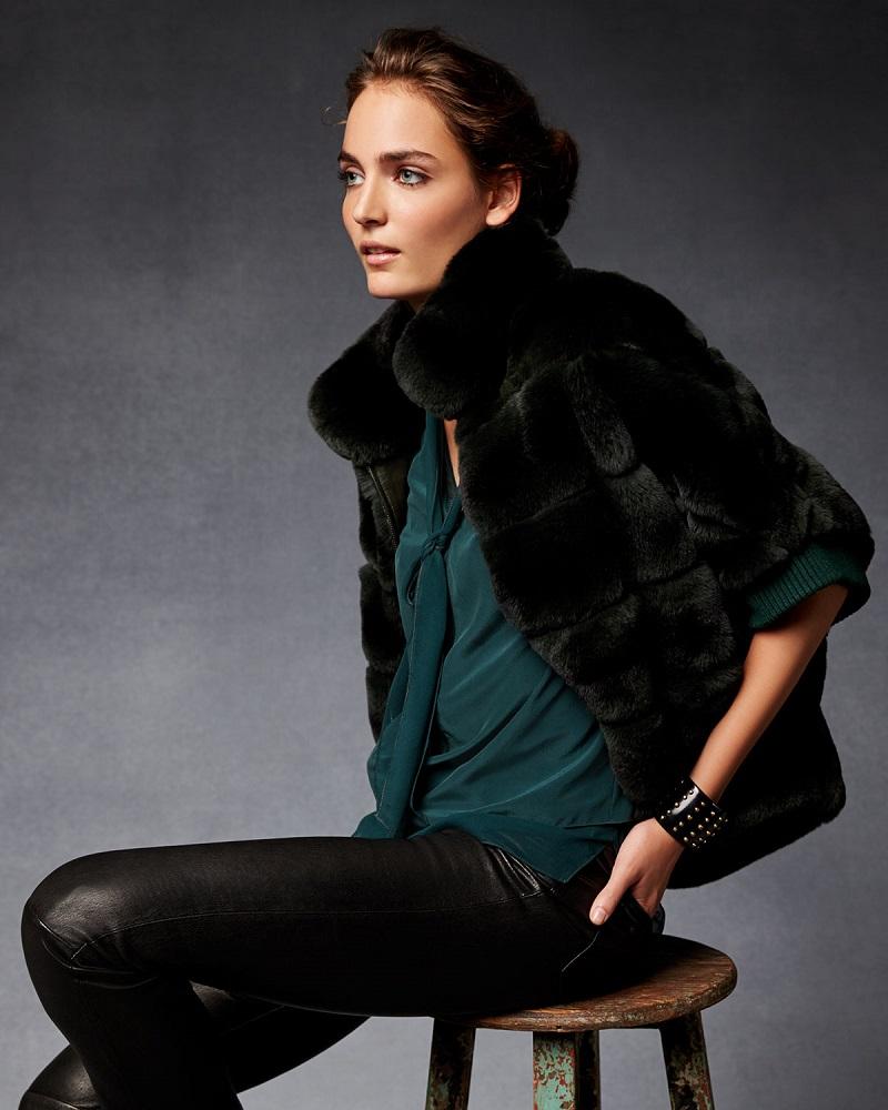 Gorski Rabbit Fur Zip-Front Jacket