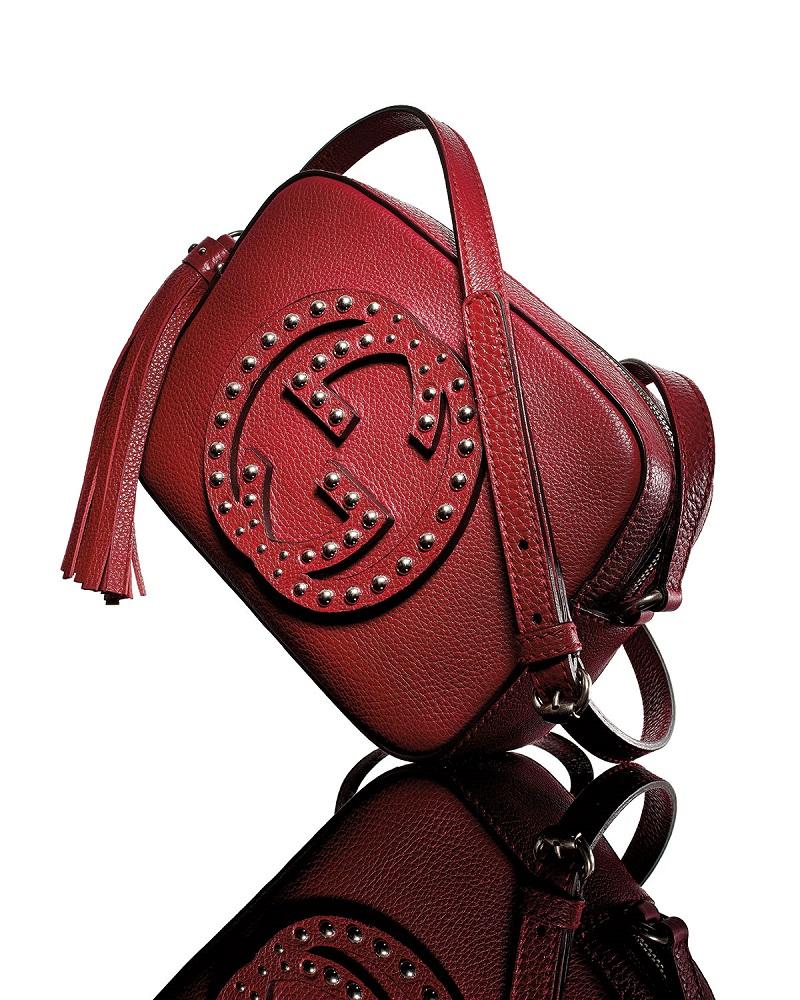 Gucci Soho Studded Leather Disco Bag