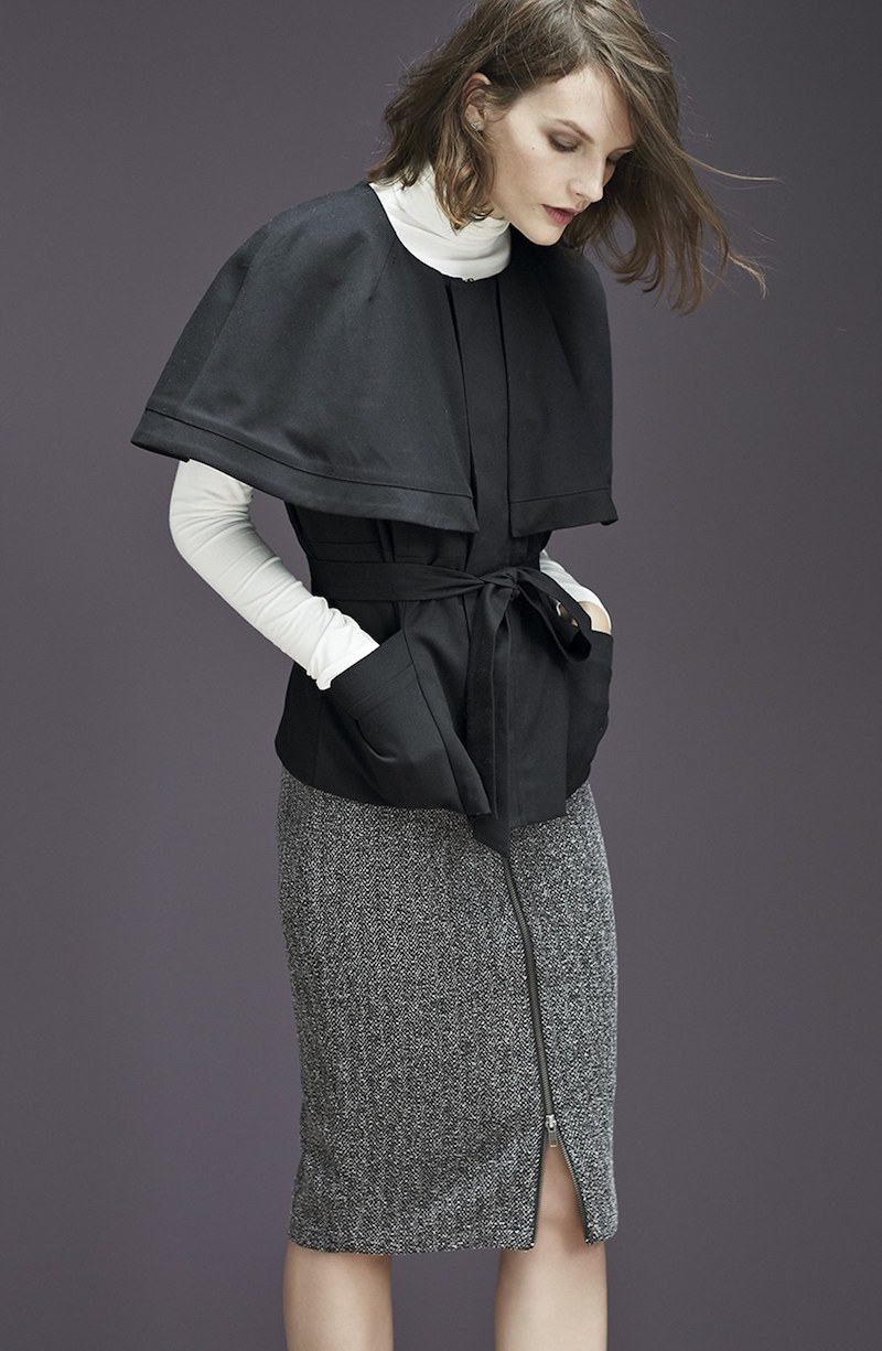 Halogen Belted Twill Cape