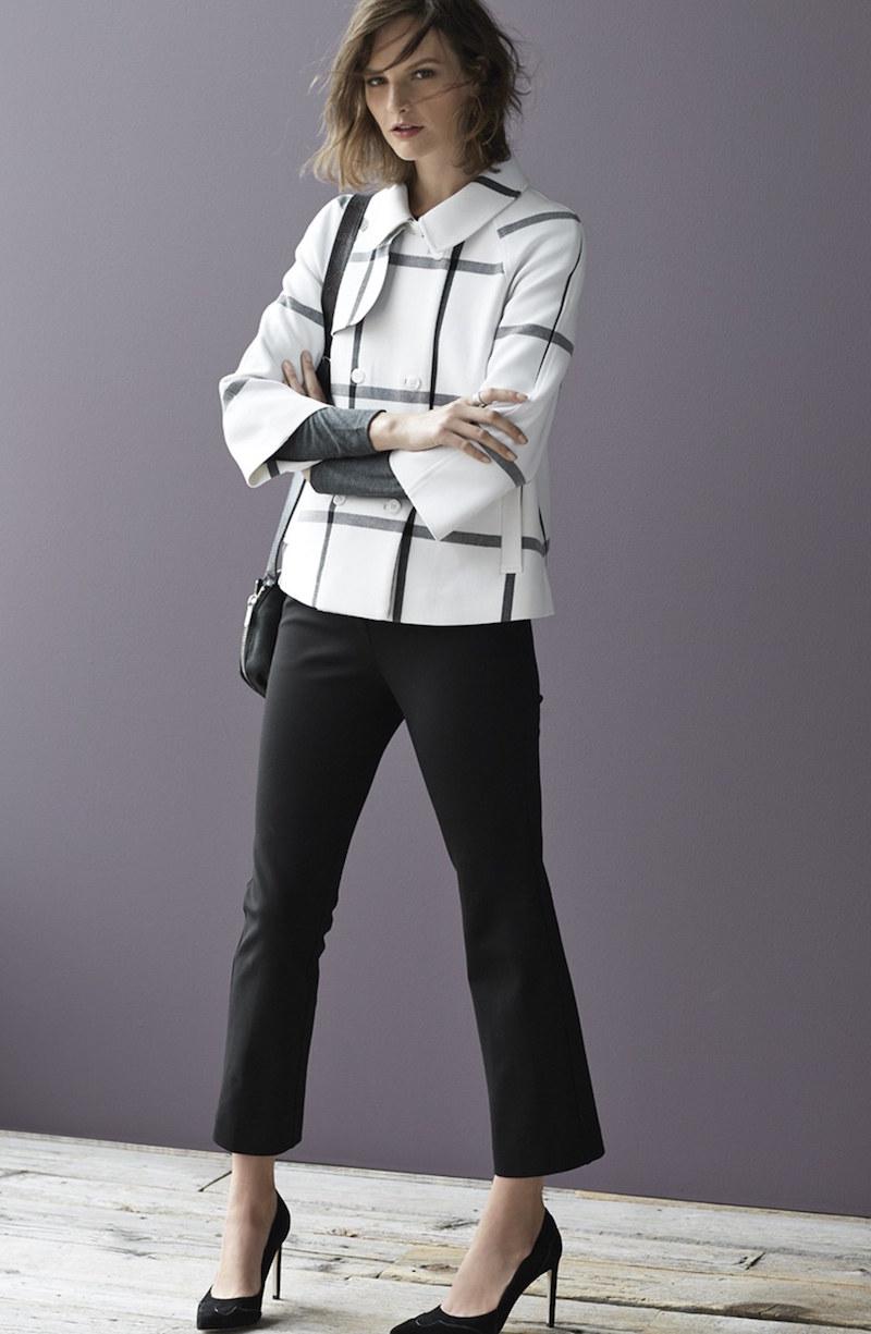 Halogen Double Breasted Raglan Sleeve Jacket