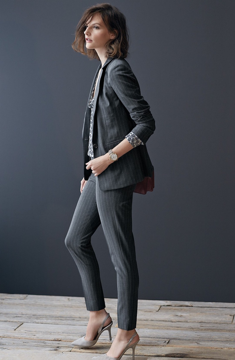 Halogen Taylor Stretch Pinstripe Suiting Pants