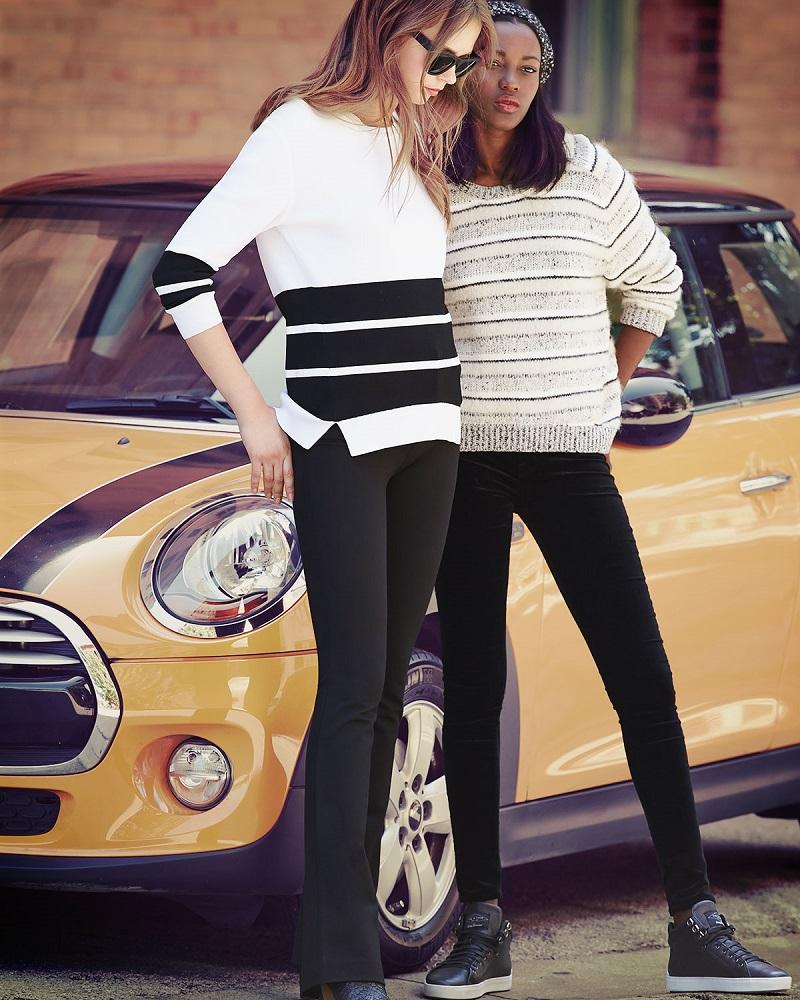 J Brand Jeans Aliso Long-Sleeve Triple-Stripe Sweater