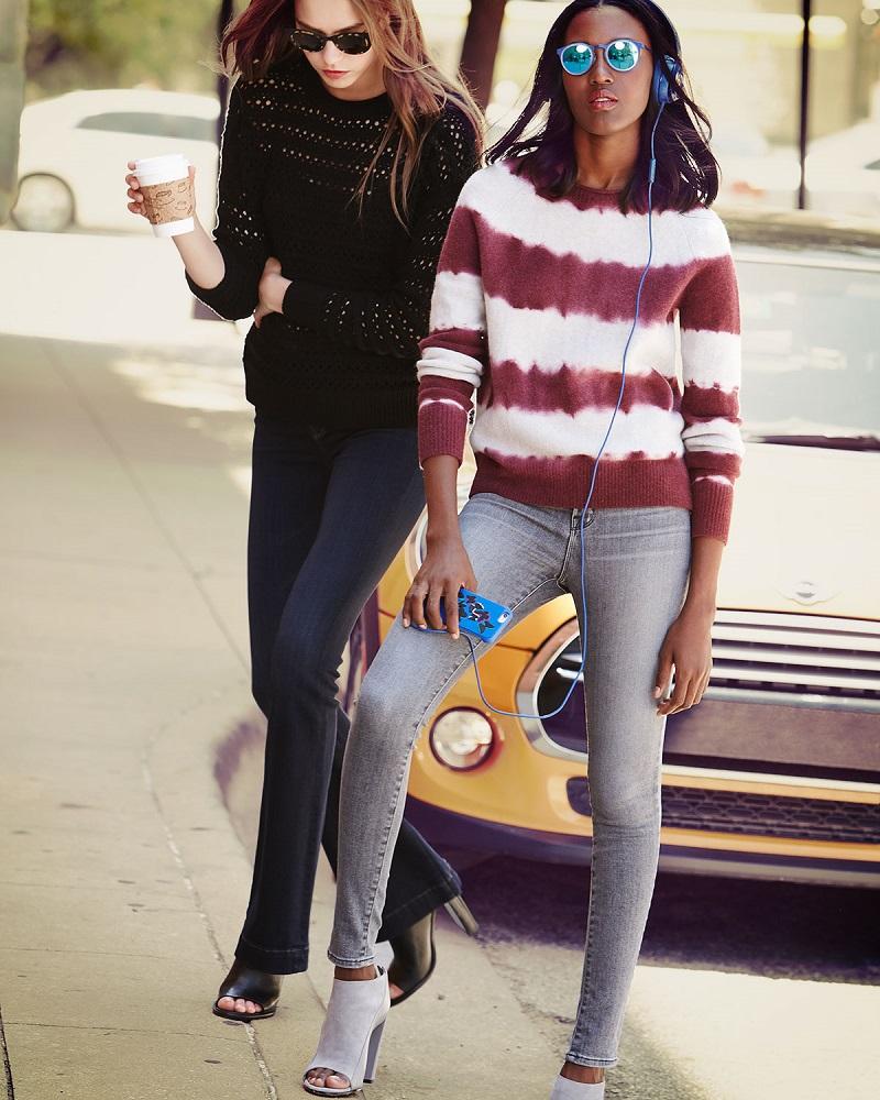 J Brand Jeans Flower Long-Sleeve Crochet Sweater