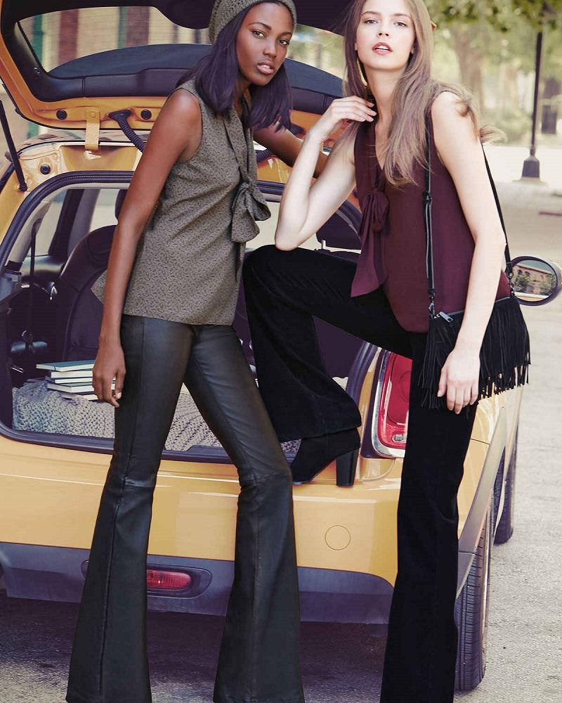 J Brand Jeans Giovanna Sleeveless Neck-Tie Blouse