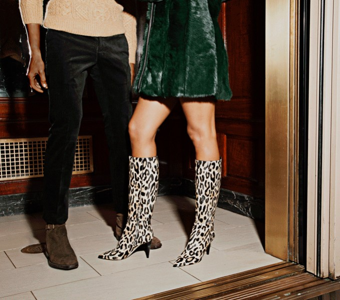 Jimmy Choo Lyonise Printed Calf Hair Knee-High Boots