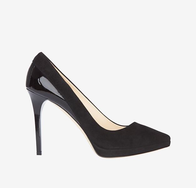Jimmy Choo Rudy Patent Leather/Suede Pump