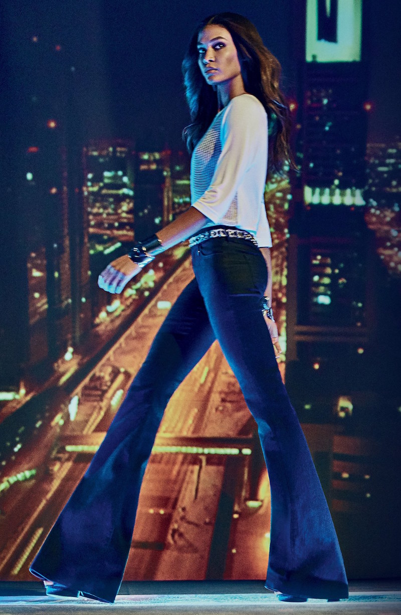 Joan Smalls for True Religion Brand Jeans Flare Jeans