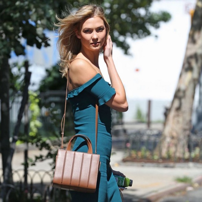 Karlie Kloss Hang Out with Max Mara Whitney Small Tote