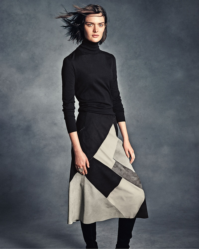 Lafayette 148 New York Josephine Colorblock Midi Skirt