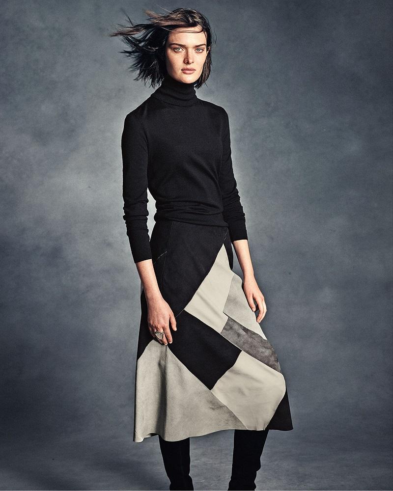 Lafayette 148 New York Josephine Colorblock Midi Skirt