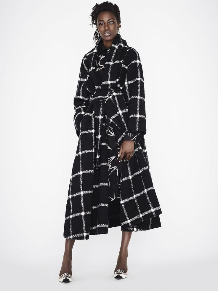 Lanvin Shawl collar belted coat