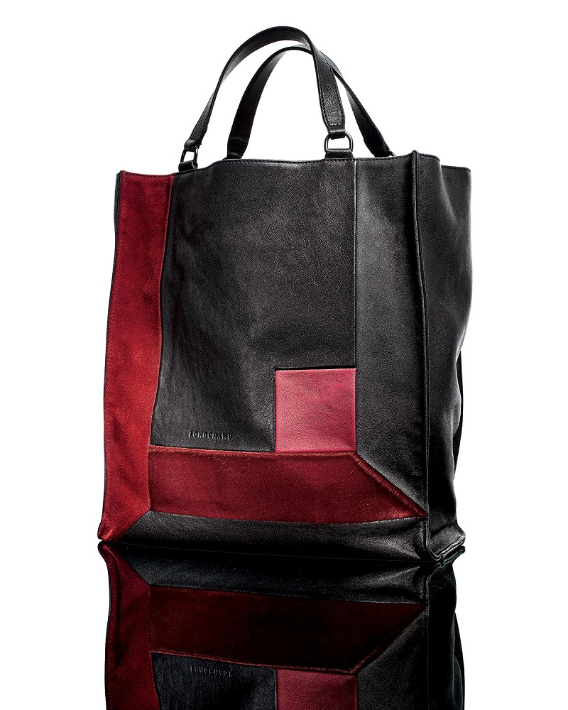 Longchamp Art Walk Mixed Media Tote Bag