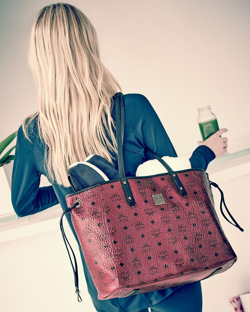 MCM Shopper Project Visetos Reversible Tote Bag