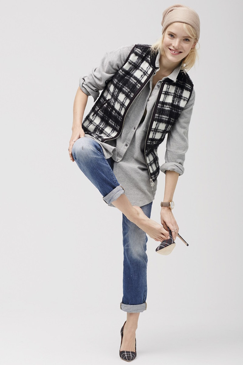 Madewell Reversible Plaid Vest