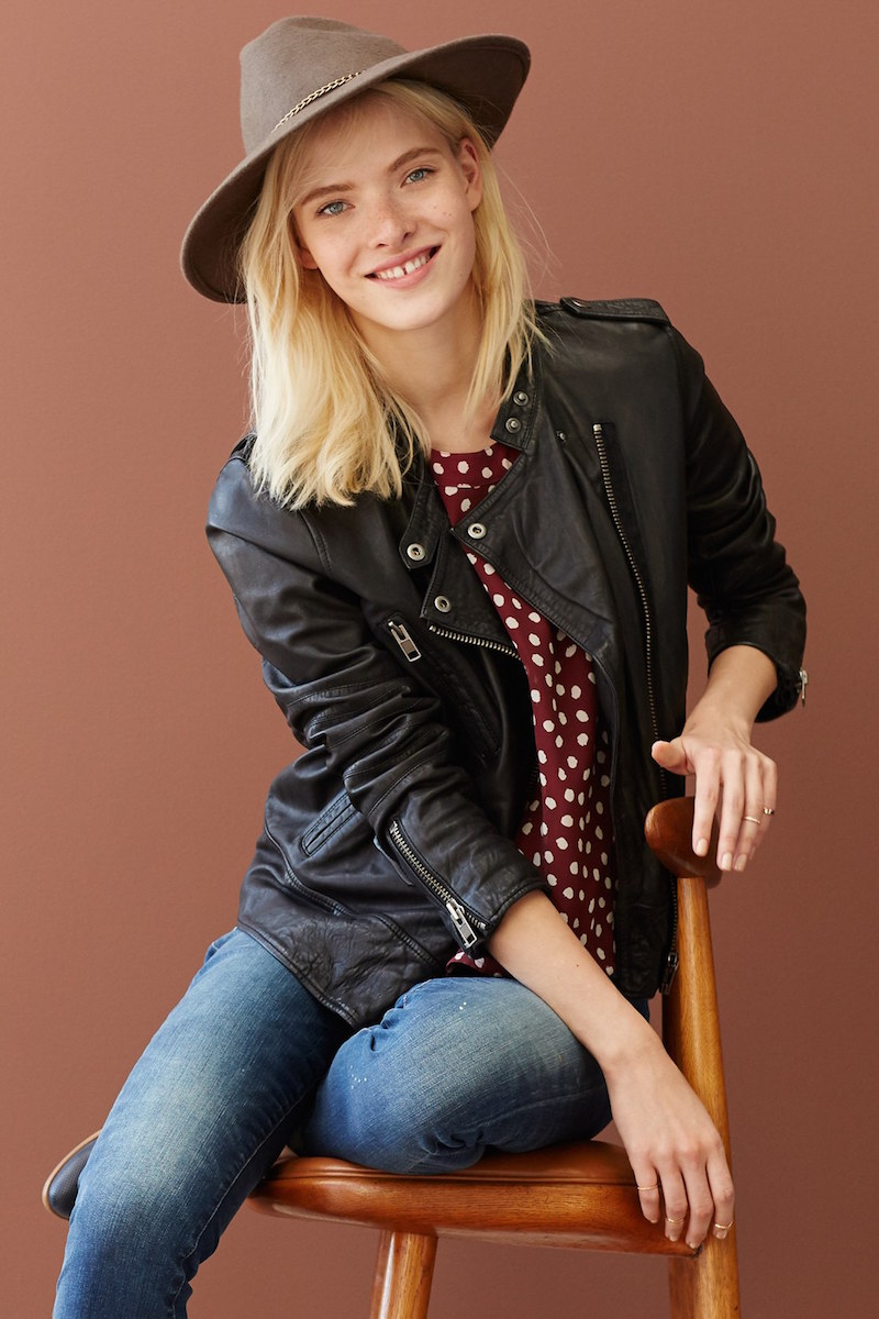 Madewell Trapeze Leather Moto Jacket