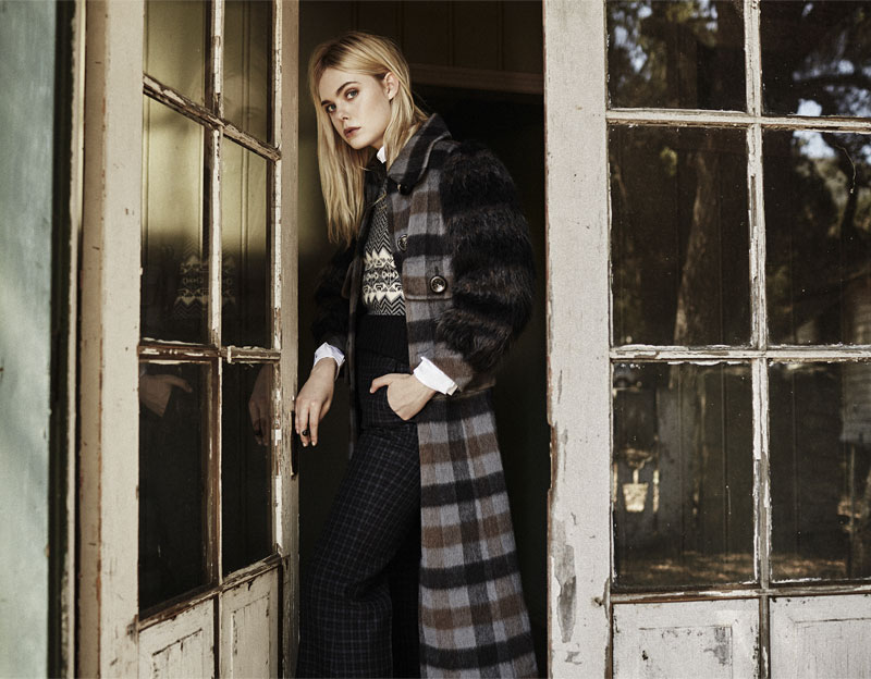 Marc Jacobs Faux Fur-paneled Plaid Wool and Alpaca-blend Coat