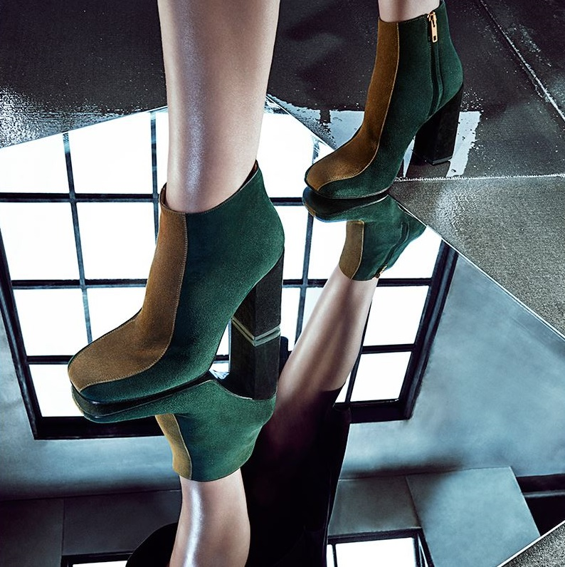 Marni Colorblock Suede Ankle Boots