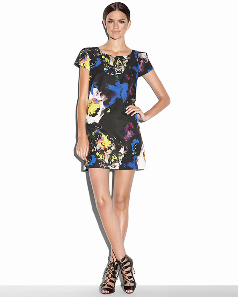 Milly Chloe Midnight Floral Dress