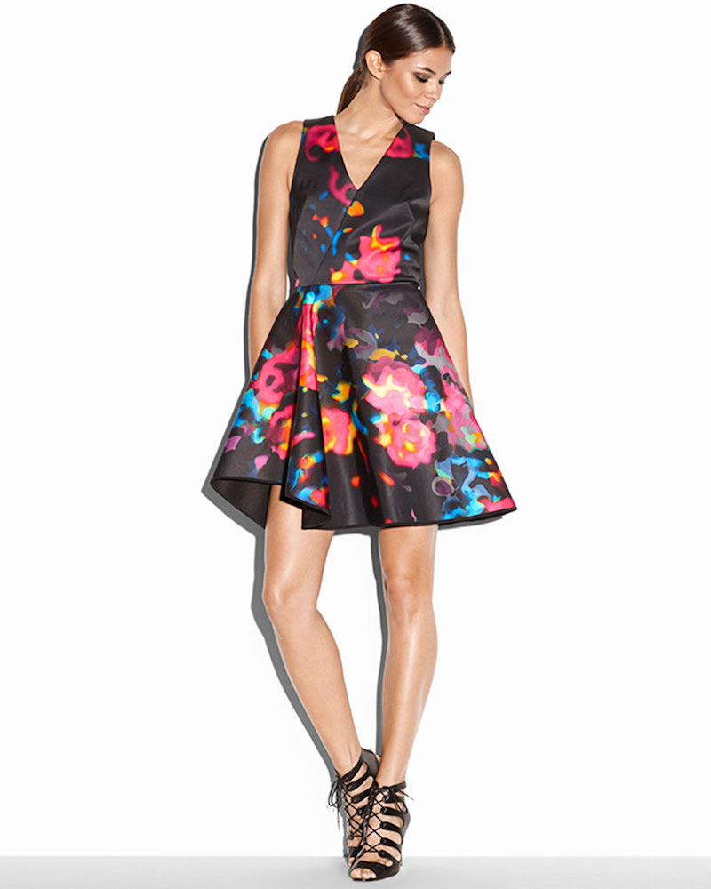 Milly Sleeveless Rosette Cascade Dress