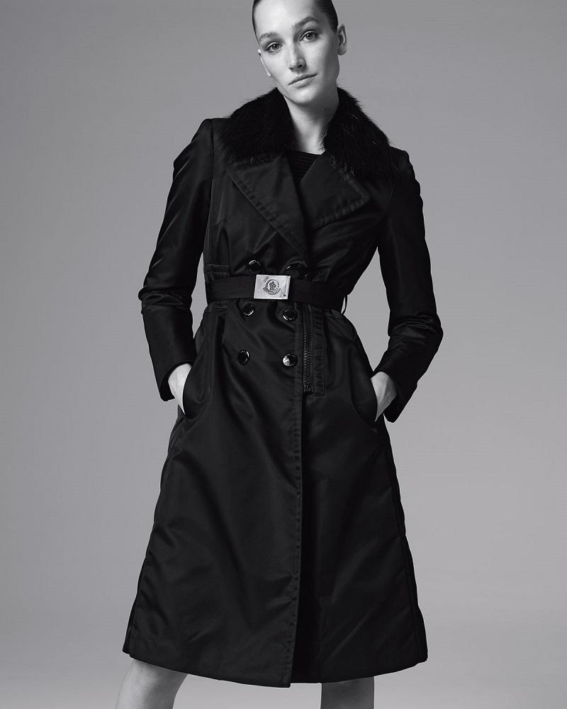 Moncler Sisteron Fur-Trim Trenchcoat