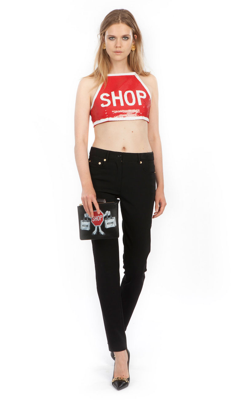 Moschino 1st Story Sequin Embellished Crop Top