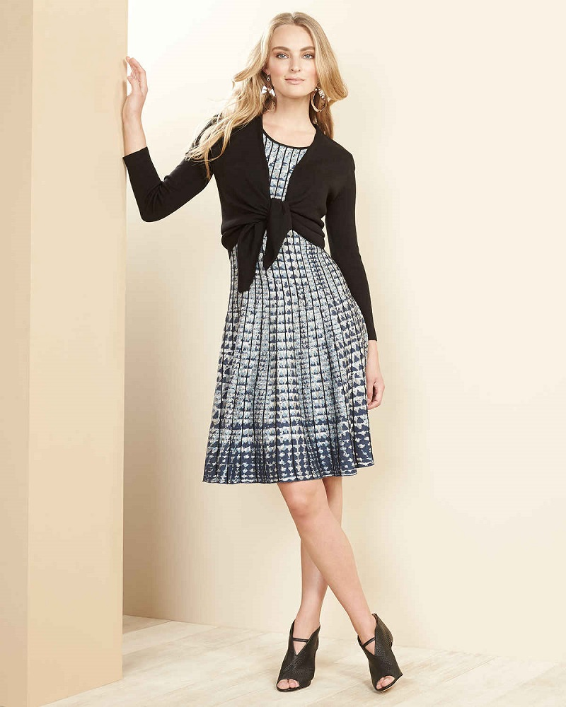 NIC+ZOE Checked Out Twirl Dress