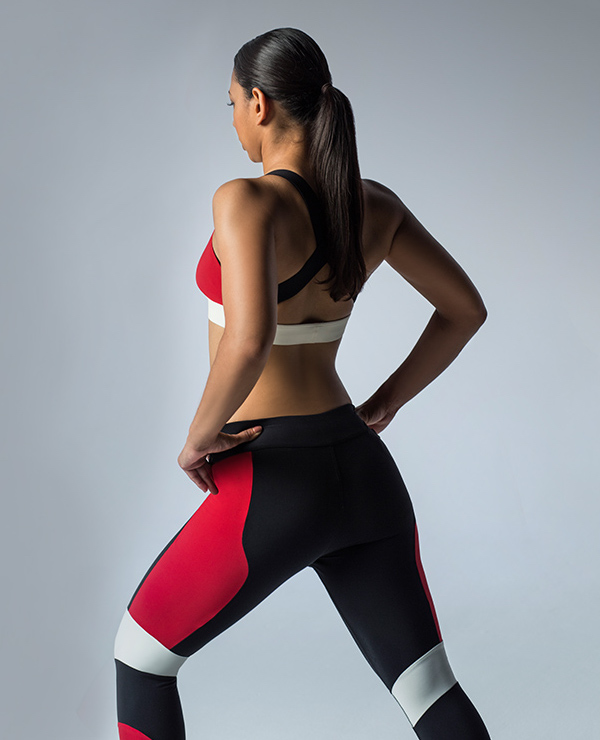 NO KA'OI Huli Colour-block Performance Leggings