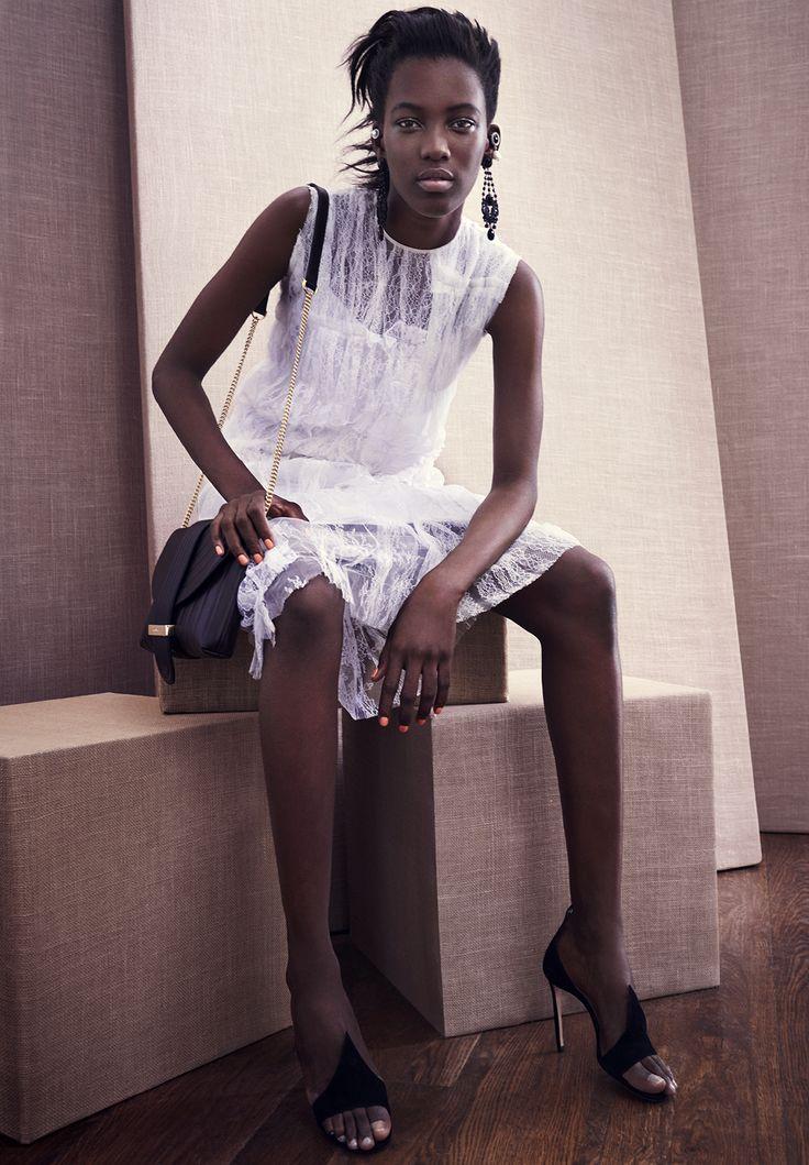 Nina Ricci Chantilly-lace sleeveless dress