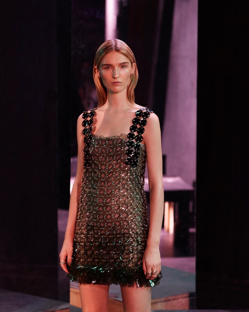 Paco Rabanne Chain-Mail Disc Dress