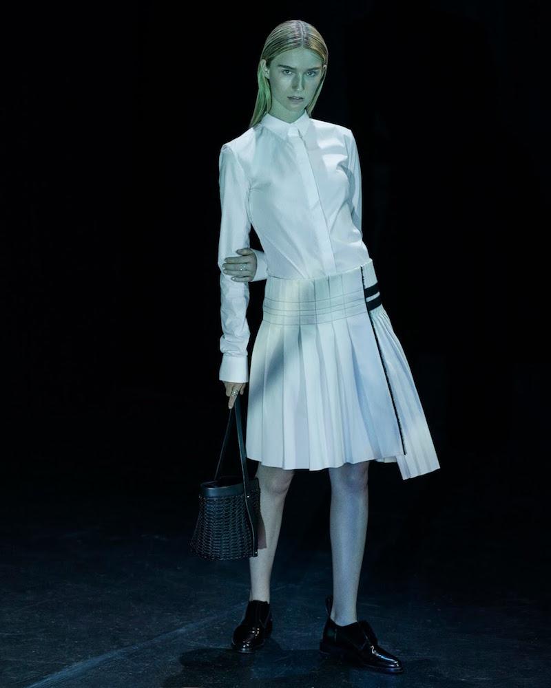 Paco Rabanne Mixed-Pleat Twill Skirt