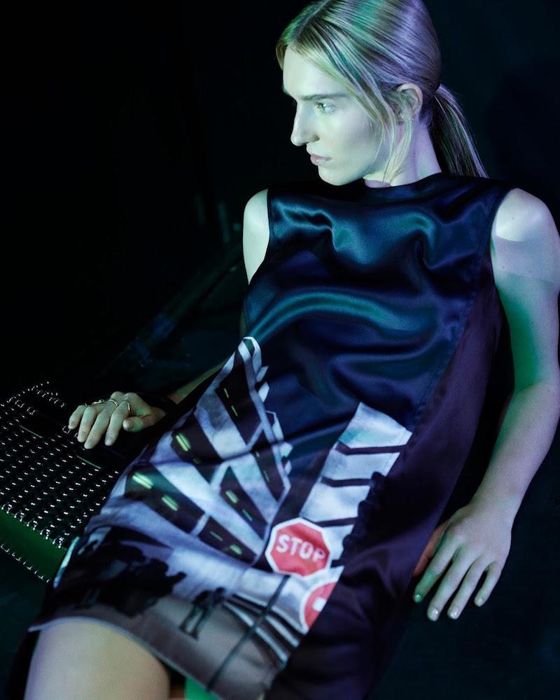 Paco Rabanne Urban-Print Shift Dress