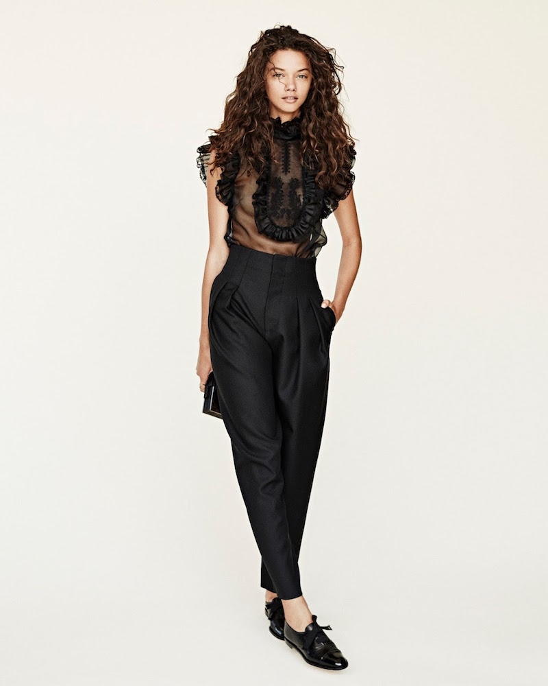 Philosophy di Lorenzo Serafini Gabardine Pleated High-Waist Pants