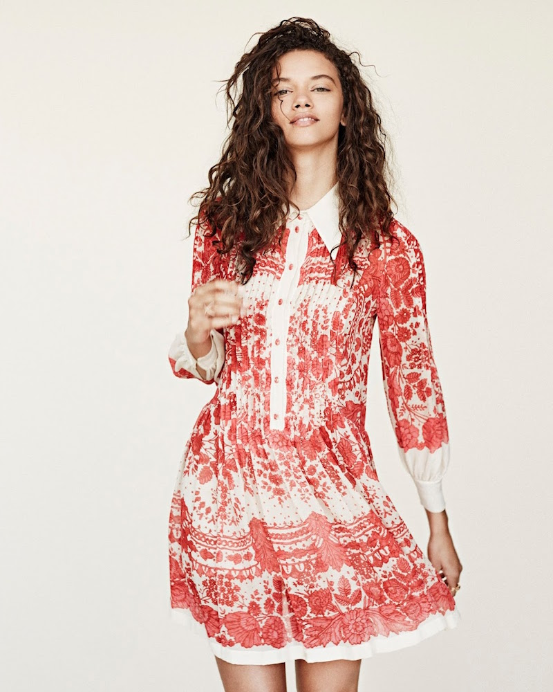Philosophy di Lorenzo Serafini Lace-Print Chiffon Shirtdress