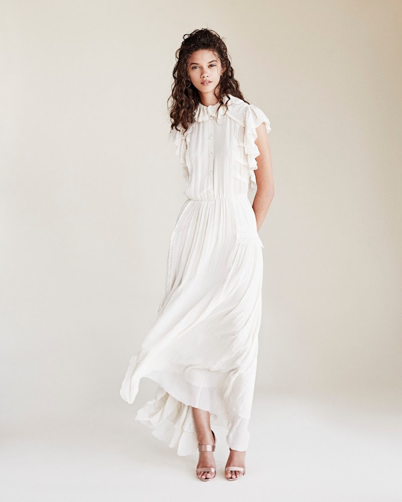 Philosophy di Lorenzo Serafini Lace-Trimmed Ruffle Maxi Dress