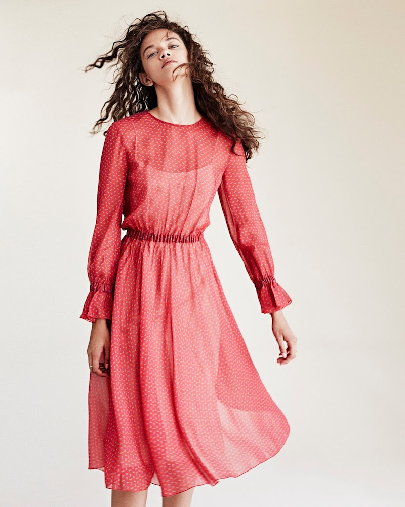 Philosophy di Lorenzo Serafini Rose Chiffon Dress