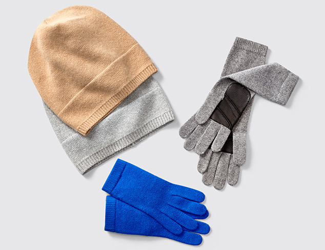 Portolano Cashmere Gloves & Hats at MYHABIT