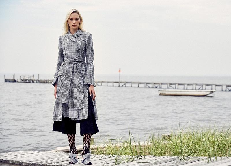 Proenza Schouler Fringed Tweed Coat