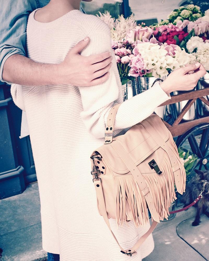 Proenza Schouler PS1 Medium Fringe Satchel Bag