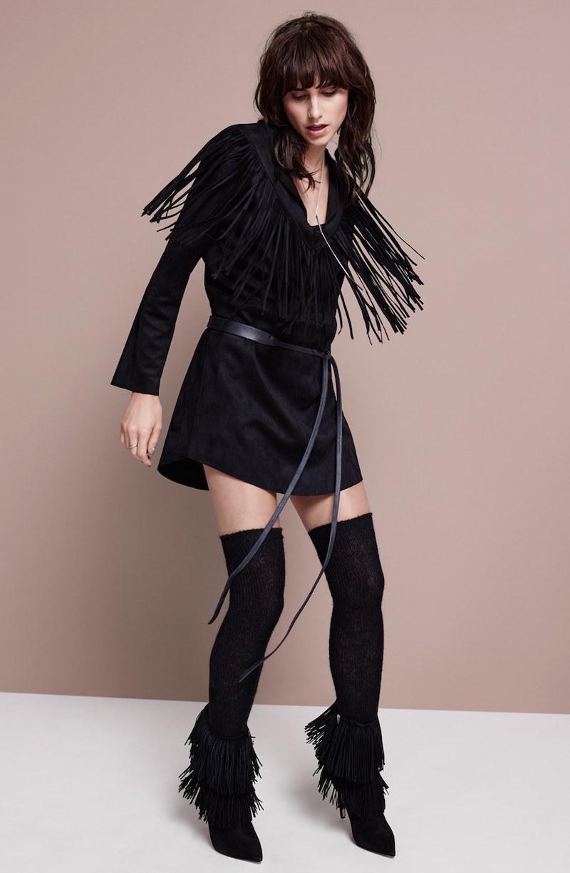Raga Rule Breaker Faux Leather Shift Dress