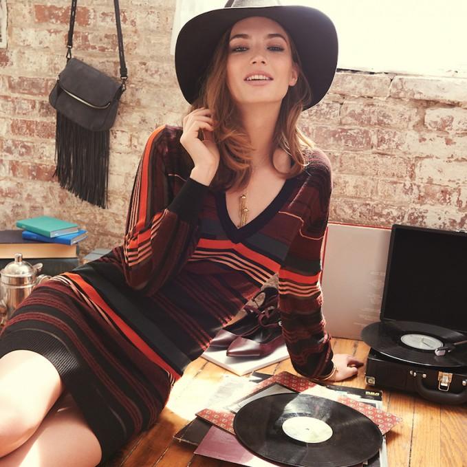 Rebecca Minkoff Astride Sheer Stripe Tunic