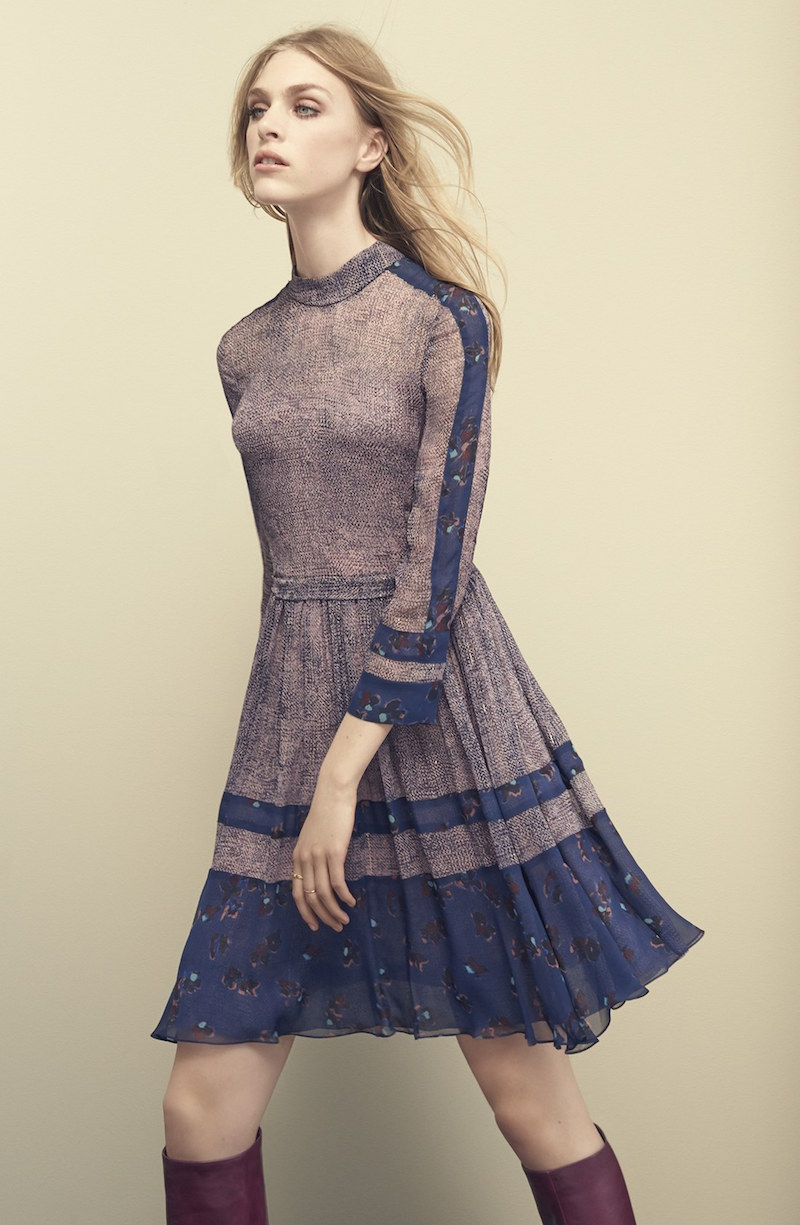 Rebecca Taylor Static Print Silk Blend Dress