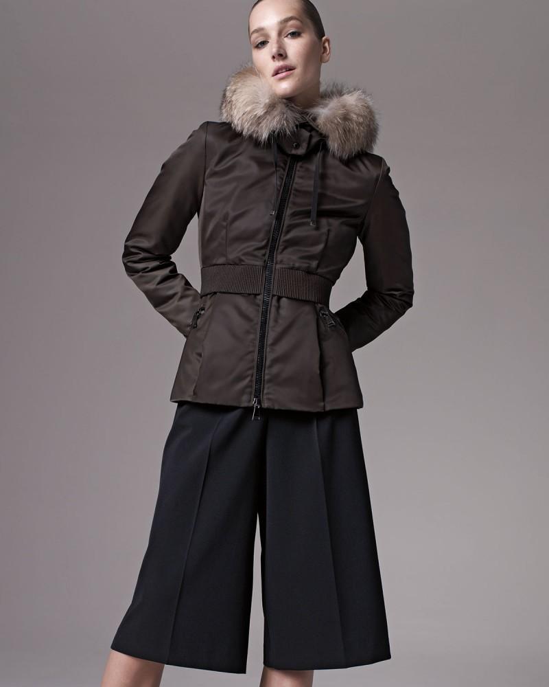 Saumur Fur-Trim Cinched-Waist Coat