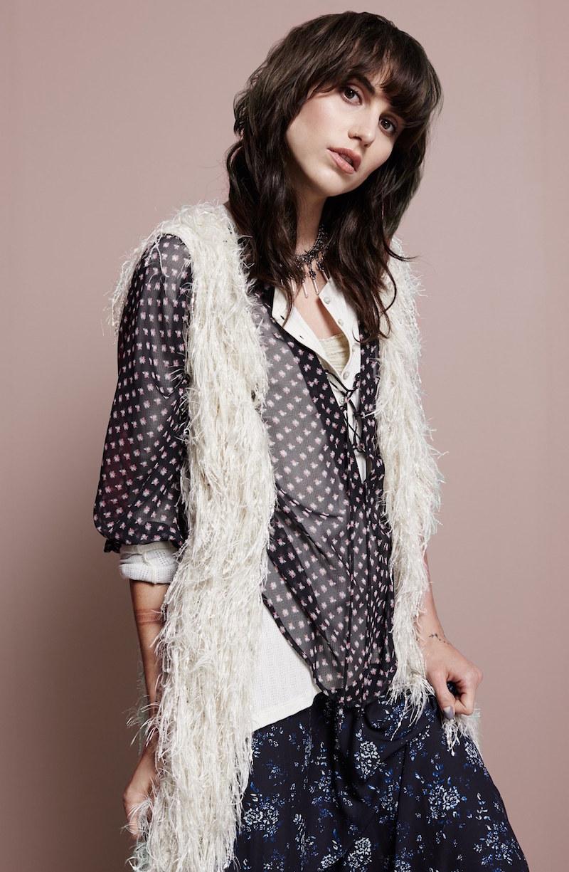 Sun & Shadow Faux Fur Vest